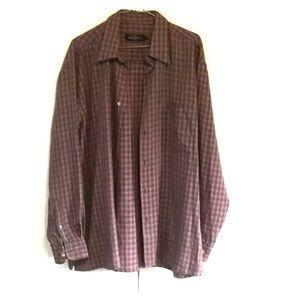 Bugatchi Uomo plaid shirt